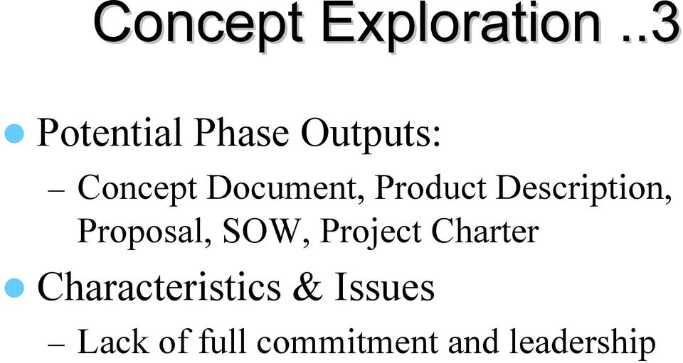 Proposal, SOW, Project Charter