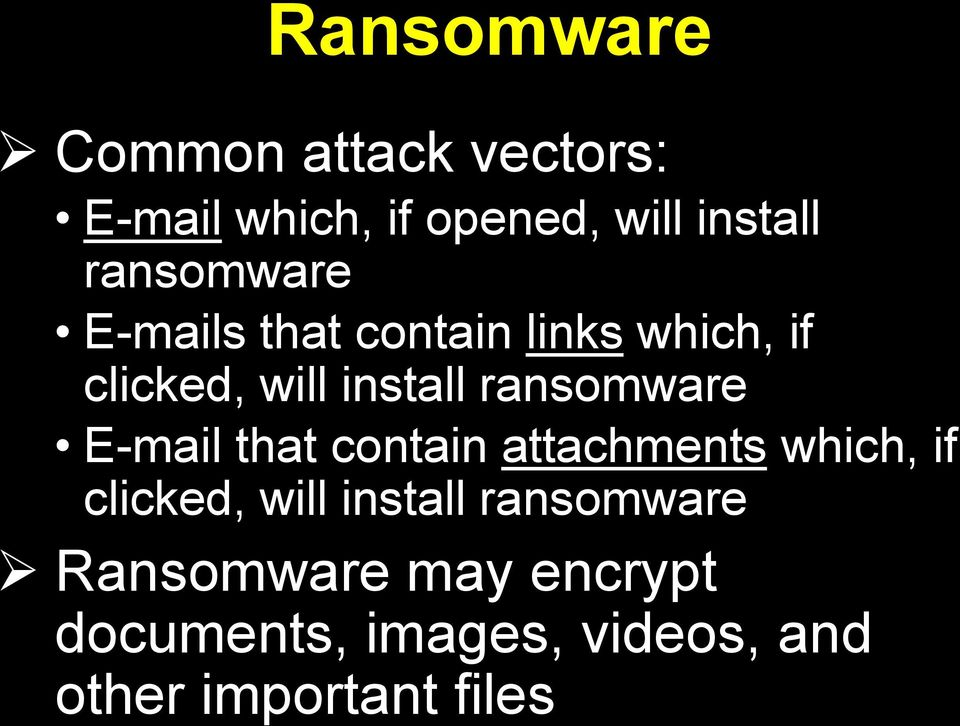 ransomware E-mail that contain attachments which, if clicked, will install