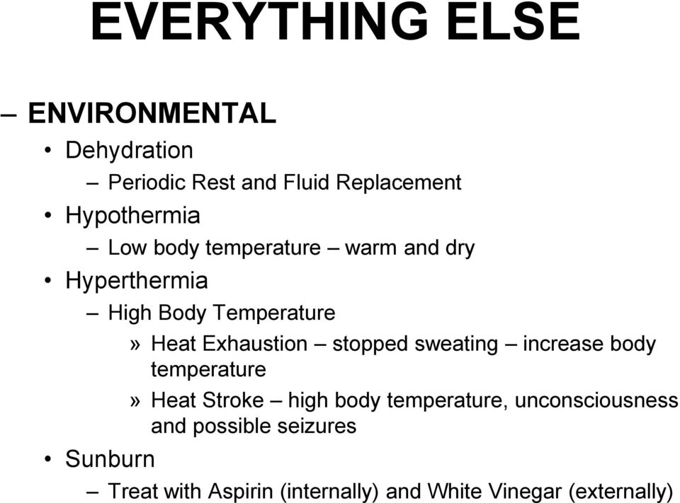 Exhaustion stopped sweating increase body temperature» Heat Stroke high body temperature,