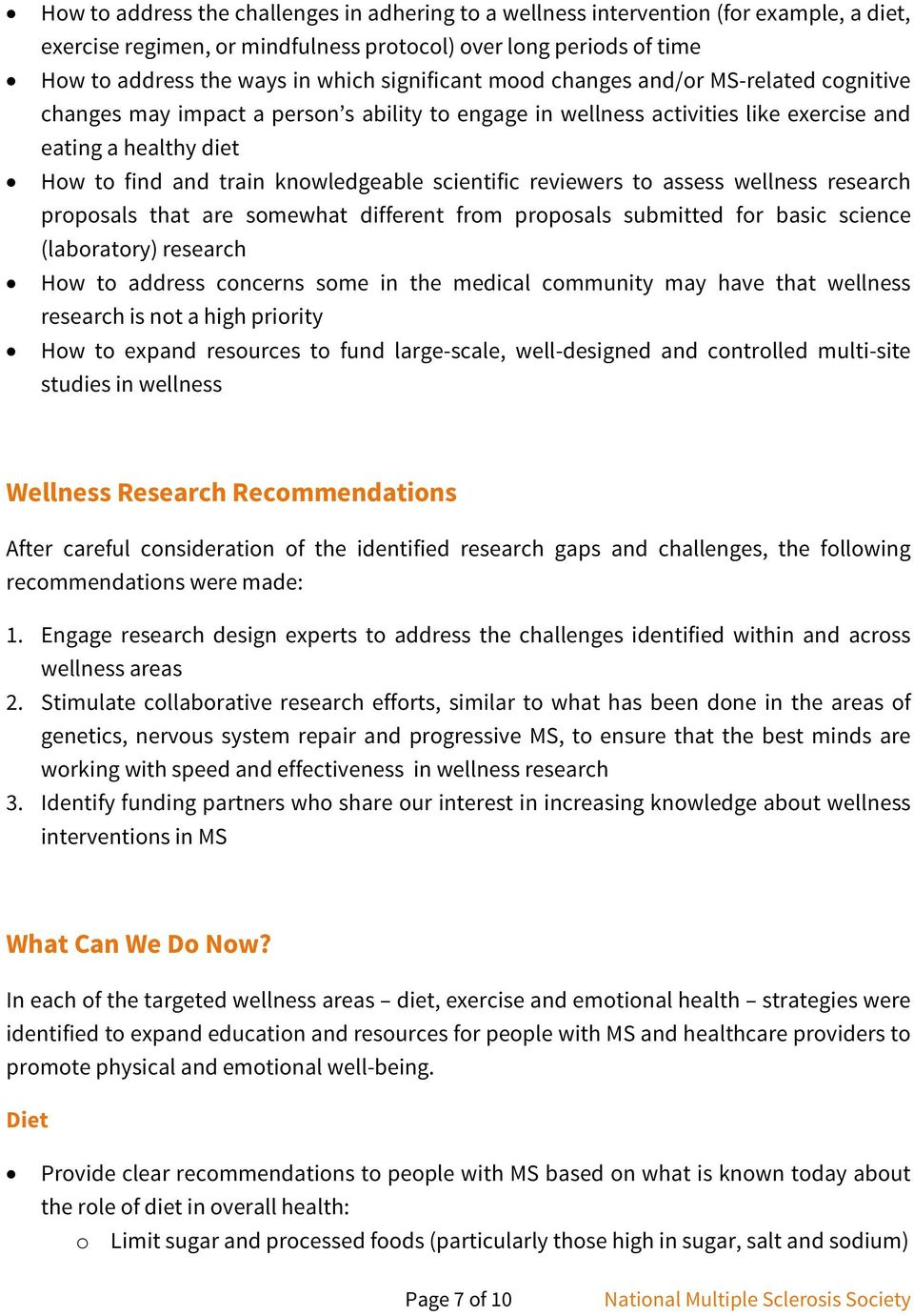 scientific reviewers to assess wellness research proposals that are somewhat different from proposals submitted for basic science (laboratory) research How to address concerns some in the medical