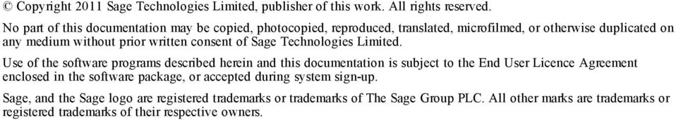 consent of Sage Technologies Limited.