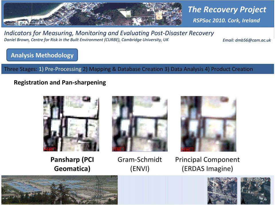 Monitoring and Evaluating Post Disaster Recovery Using High