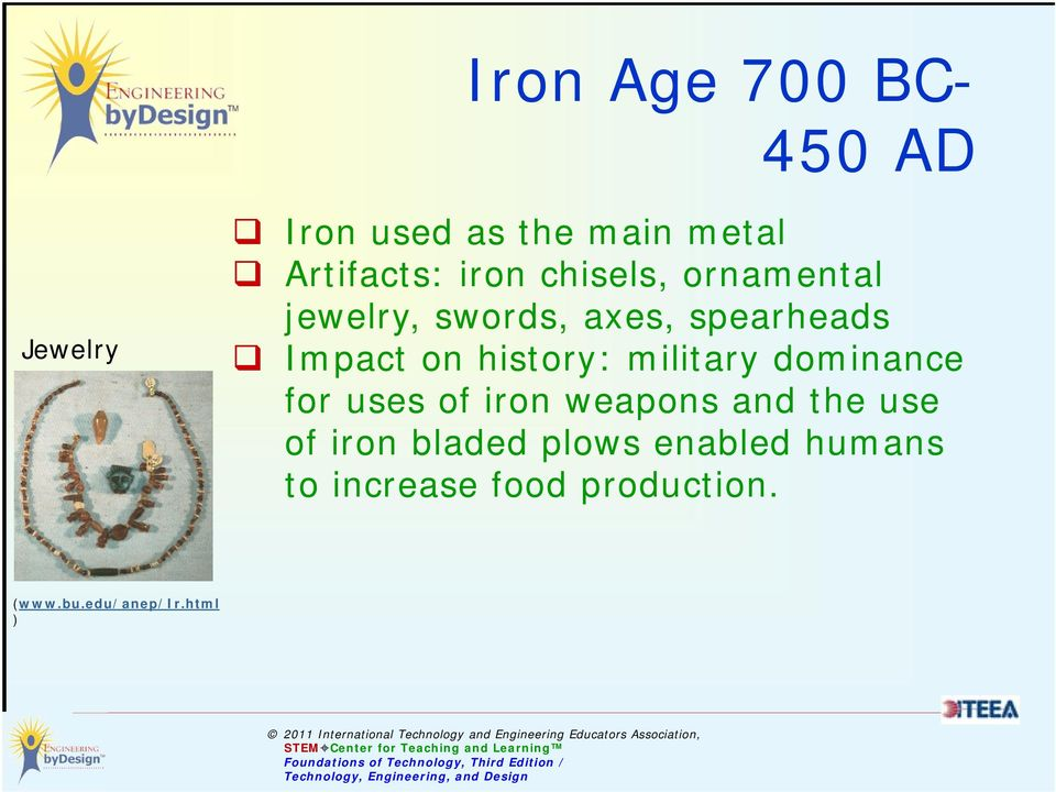 history: military dominance for uses of iron weapons and the use of iron
