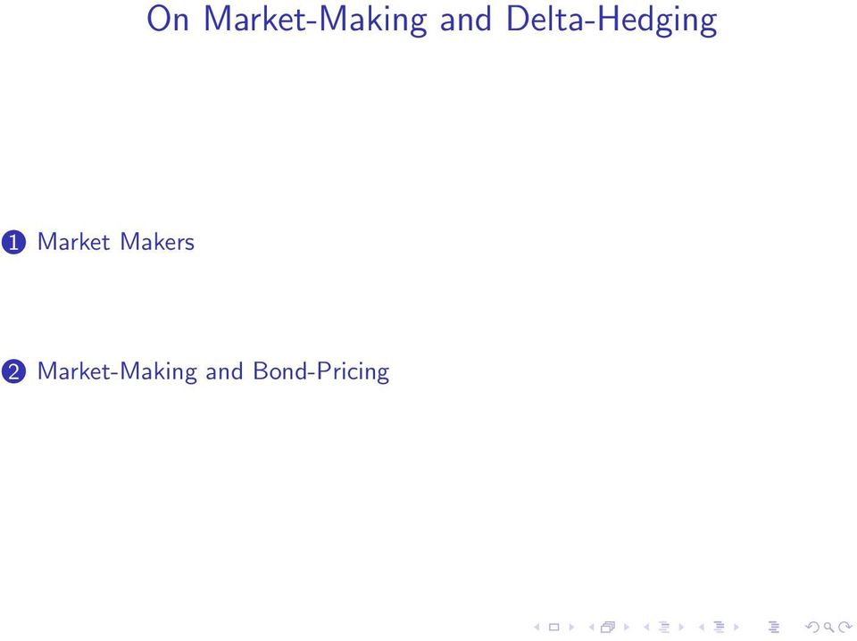 Market Makers 2