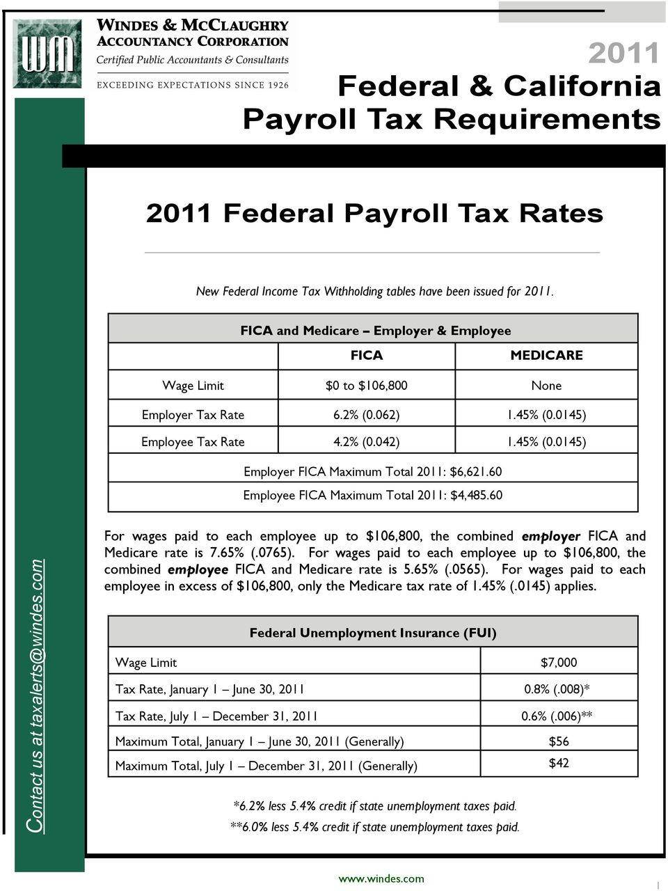 Superb 2011 Federal California Payroll Tax Requirements Pdf Download Free Architecture Designs Viewormadebymaigaardcom