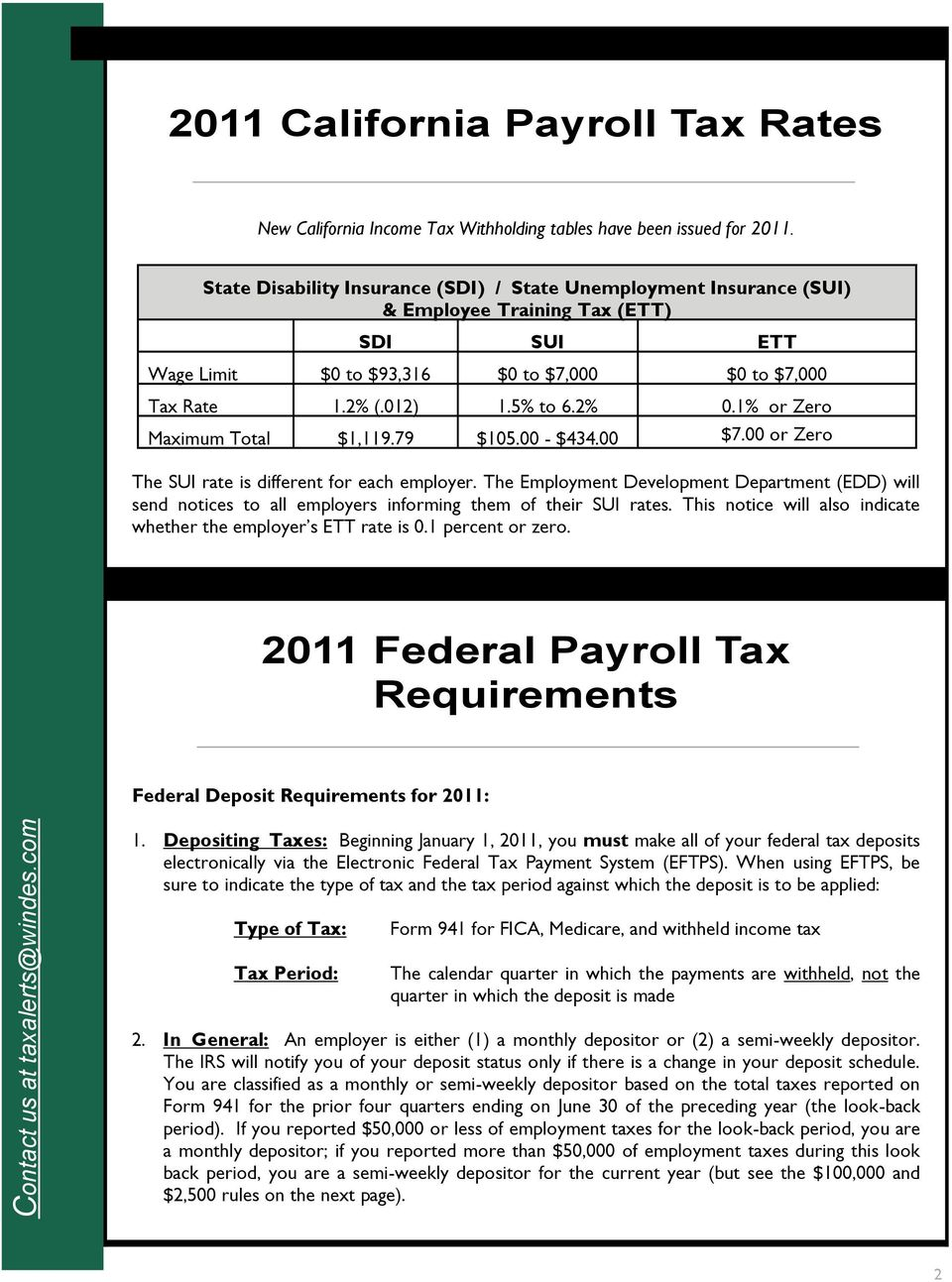Outstanding 2011 Federal California Payroll Tax Requirements Pdf Download Free Architecture Designs Viewormadebymaigaardcom