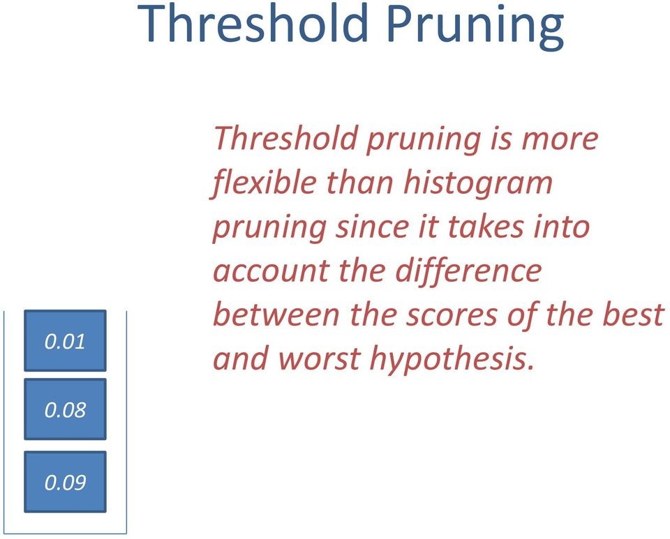 histogram pruning since it takes into account