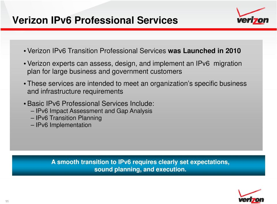 organization s specific business and infrastructure t requirements Basic IPv6 Professional Services Include: IPv6 Impact Assessment and