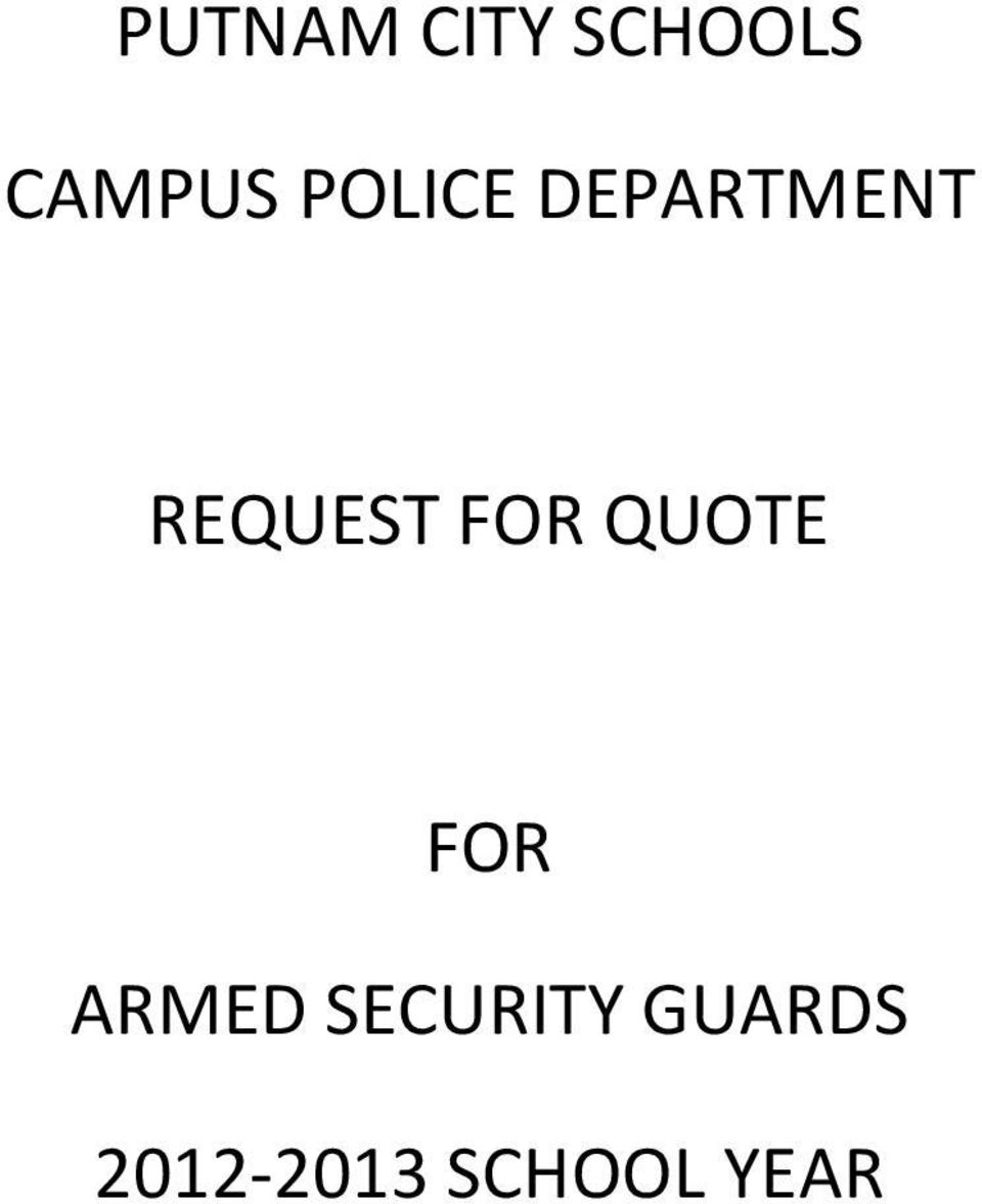 FOR QUOTE FOR ARMED
