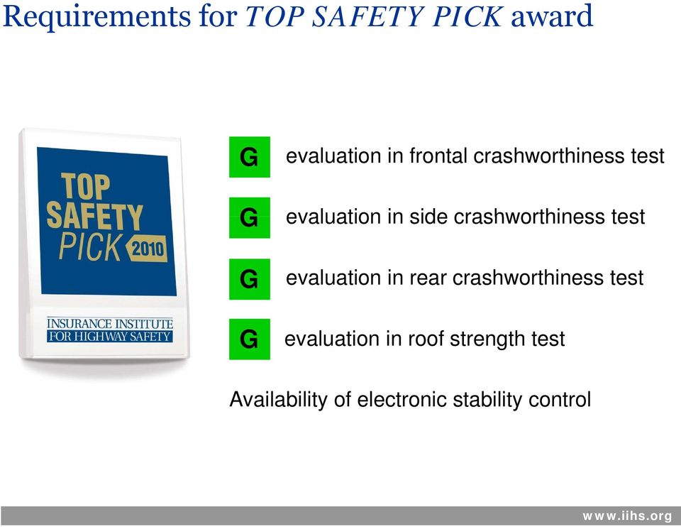 test evaluation in rear crashworthiness test evaluation in roof