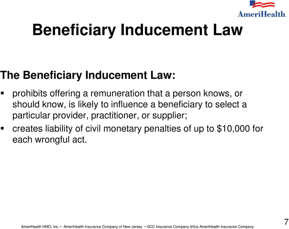beneficiary to select a particular provider, practitioner, or supplier;