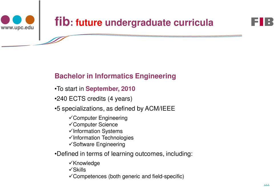 Computer Science Information Systems Information Technologies Software Engineering Defined in