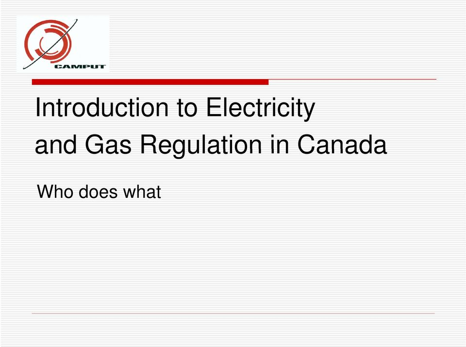 Gas Regulation in