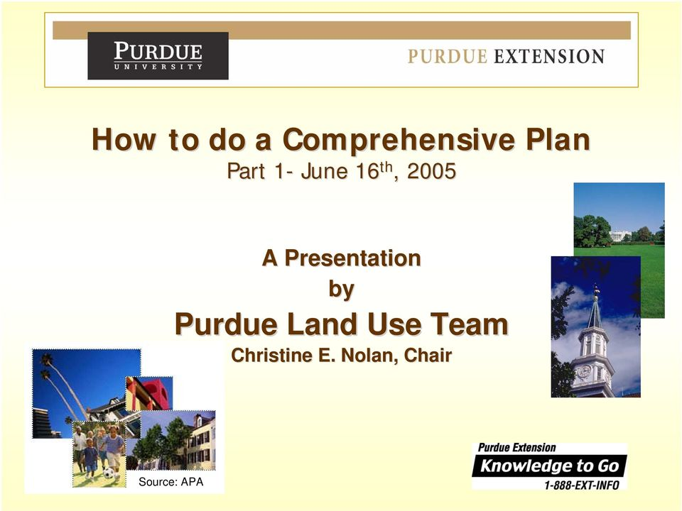 Presentation by Purdue Land Use