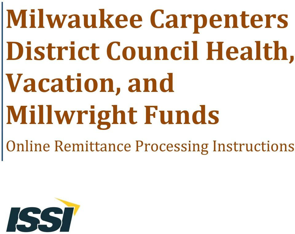 Millwright Funds Online