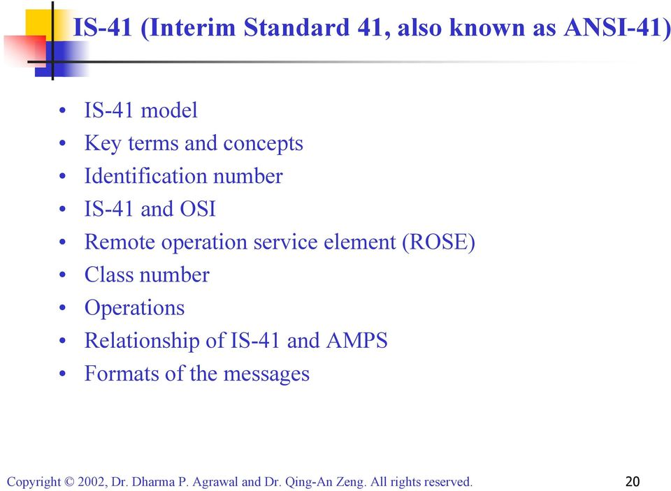 OSI Remote operation service element (ROSE) Class number