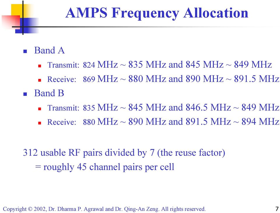 5 MHz Band B Transmit: 835 MHz ~ 845 MHz and 846.