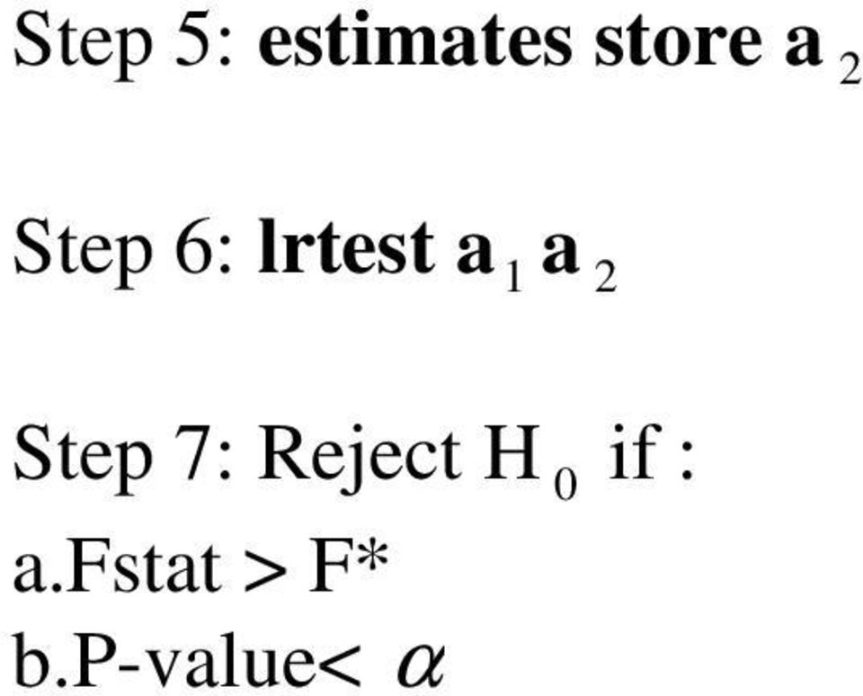 Step 7: Reject H 0 if :