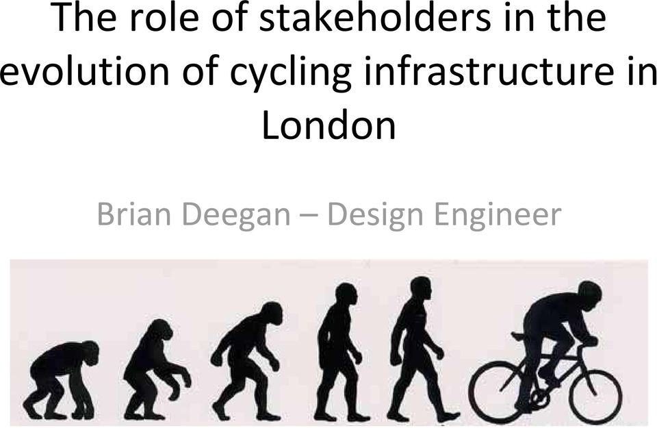 cycling infrastructure in