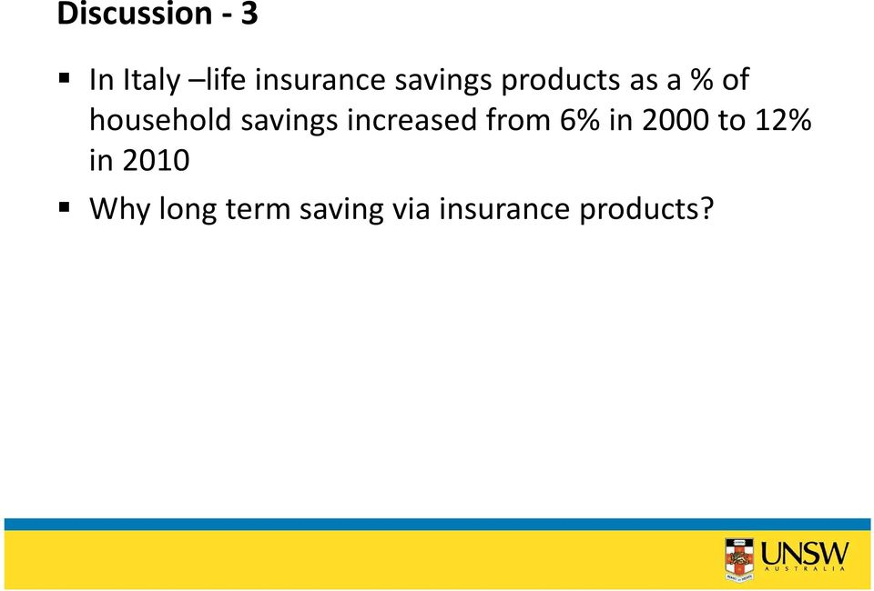 savings increased from 6% in 2000 to 12%