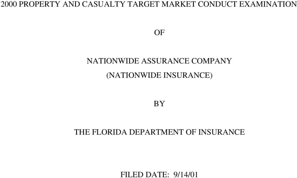 COMPANY (NATIONWIDE INSURANCE) BY THE