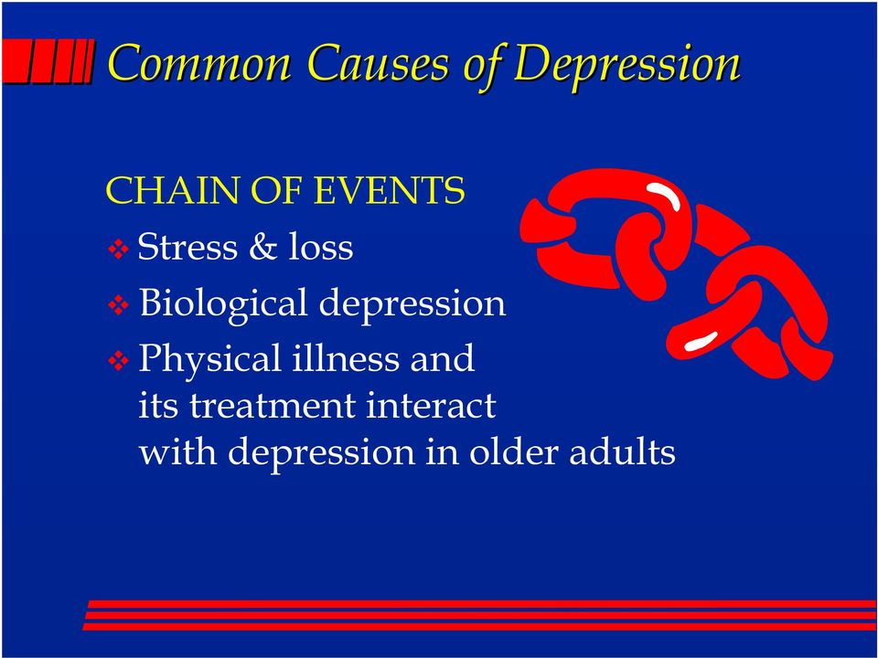 depression Physical illness and its