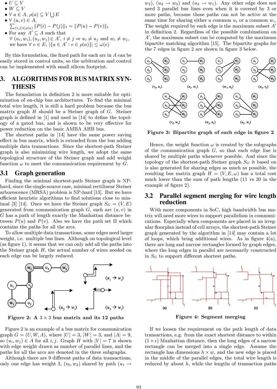 ALGORITHMS FOR BUS MATRIX SYN- THESIS The formulation in definition 2 is more suitable for optimization of on-chip bus architectures.