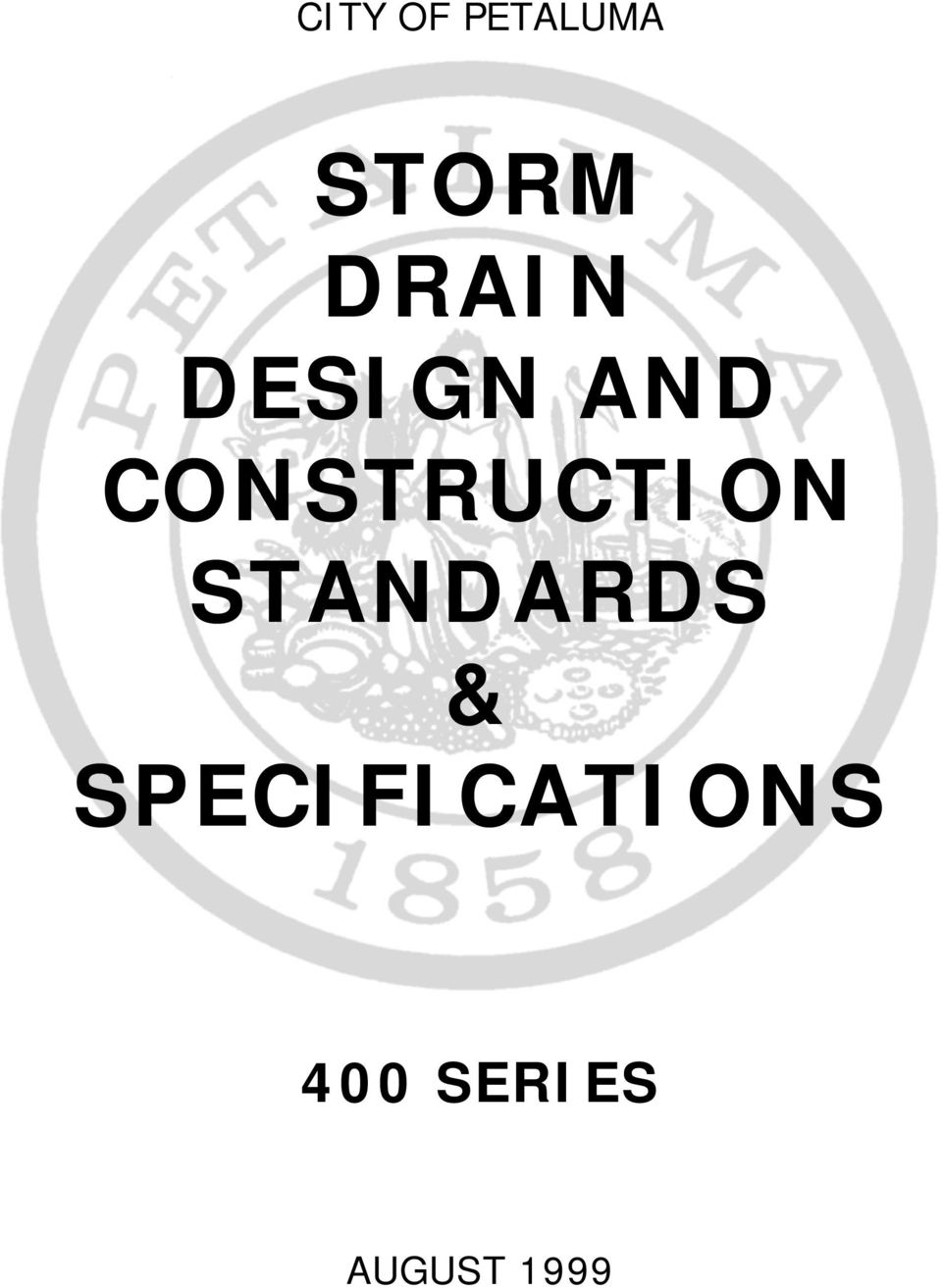 CONSTRUCTION STANDARDS &
