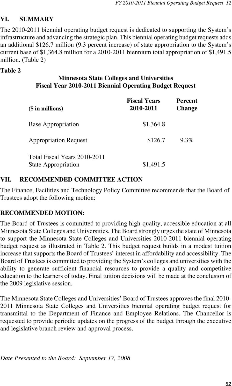 8 million for a 2010-2011 biennium total appropriation of $1,491.5 million.