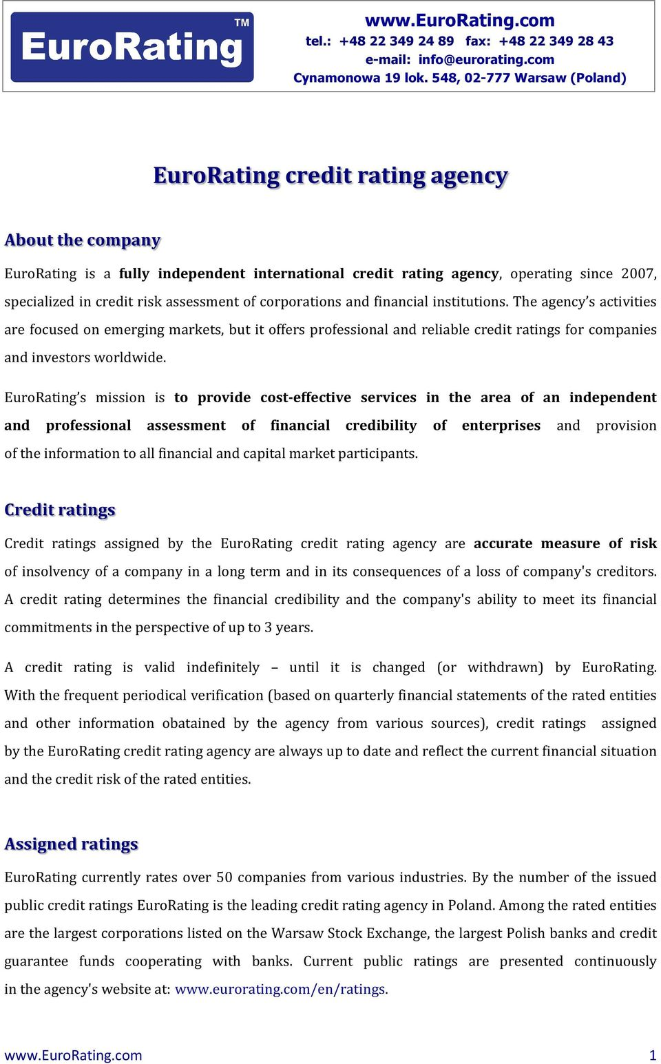 assessment of corporations and financial institutions.