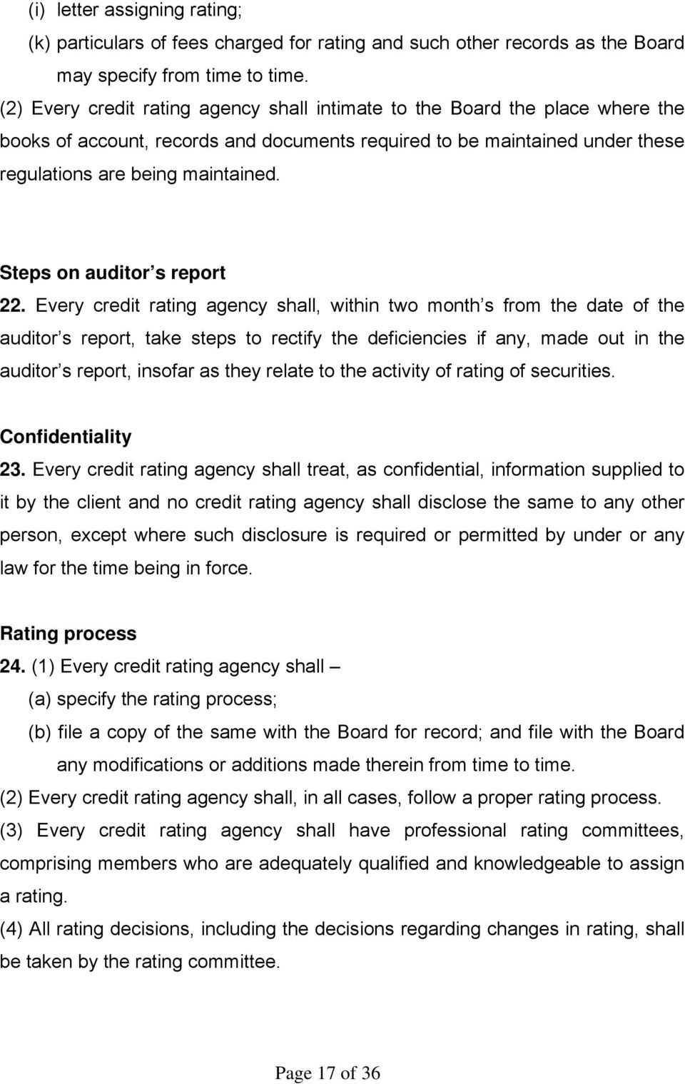 Steps on auditor s report 22.