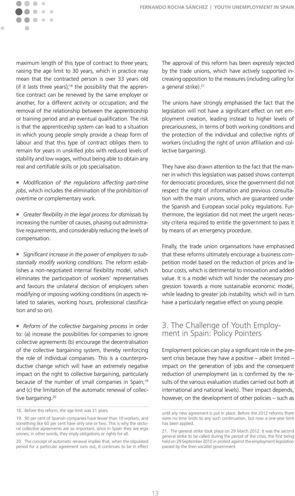 youth unemployment in spain pdf training period and an eventual qualification