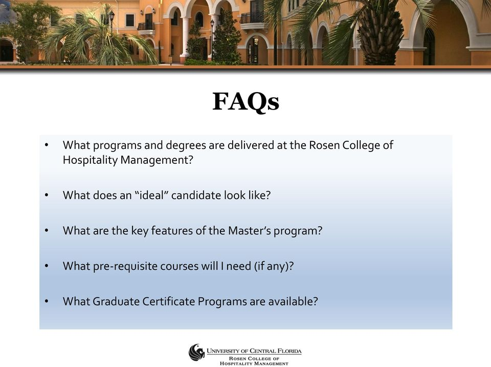 What are the key features of the Master s program?