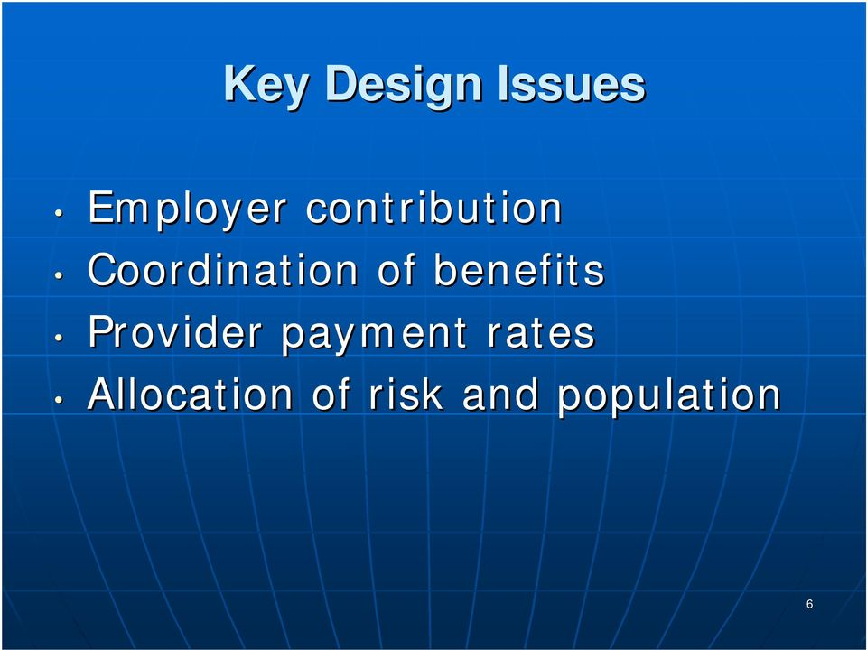 benefits Provider payment