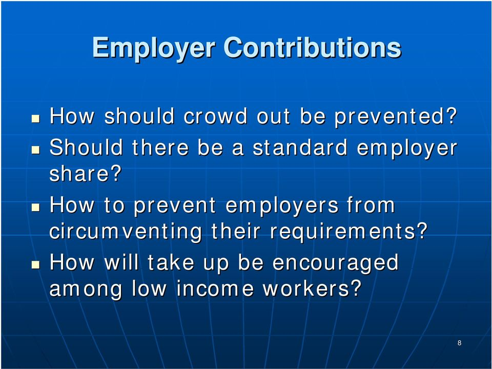 How to prevent employers from circumventing their