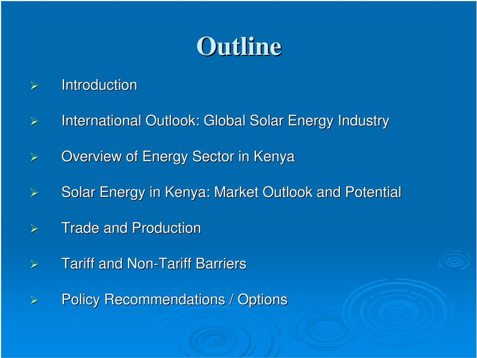 Energy in Kenya: Market Outlook and Potential Trade and