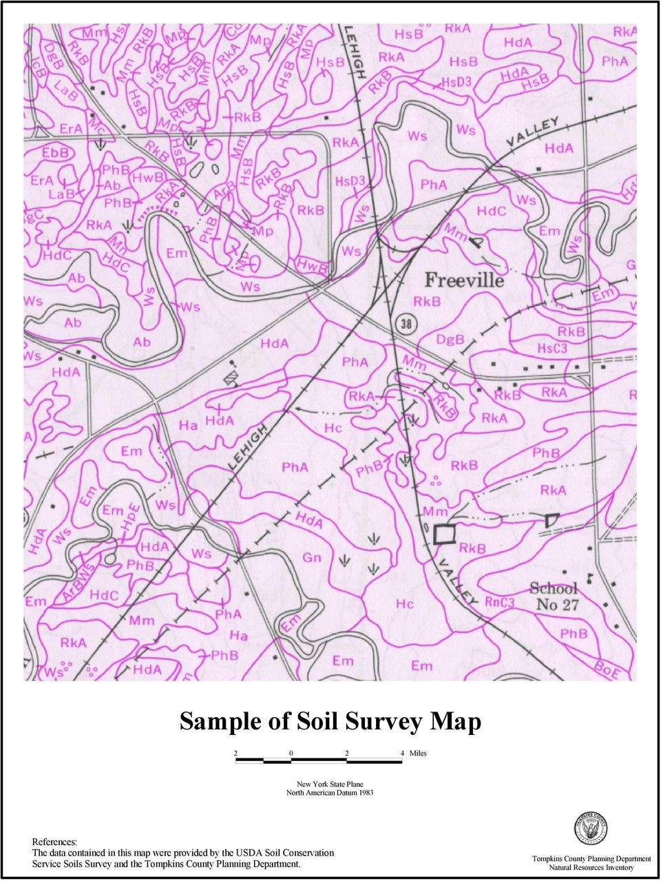 USDA Soil Conservation Service Soils Survey and the Tompkins County