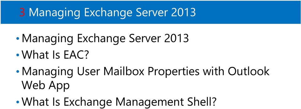 Managing User Mailbox Properties with