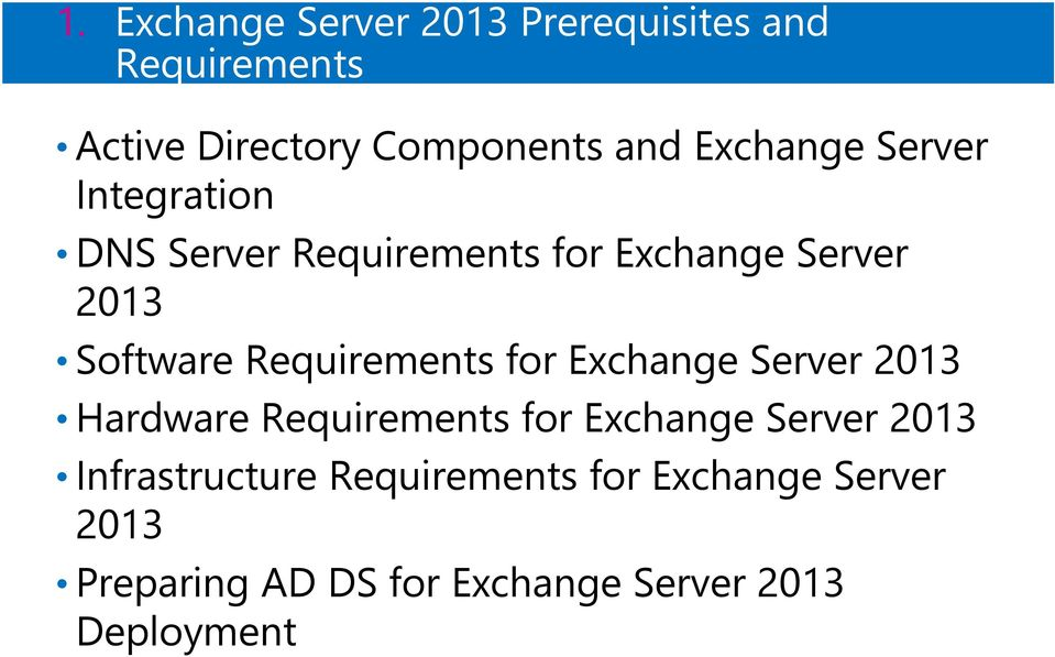 Requirements for Exchange Server 2013 Hardware Requirements for Exchange Server 2013