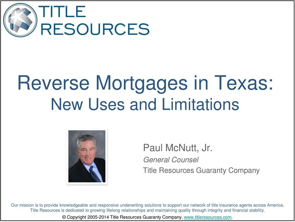 solutions to support our network of title insurance agents across America.
