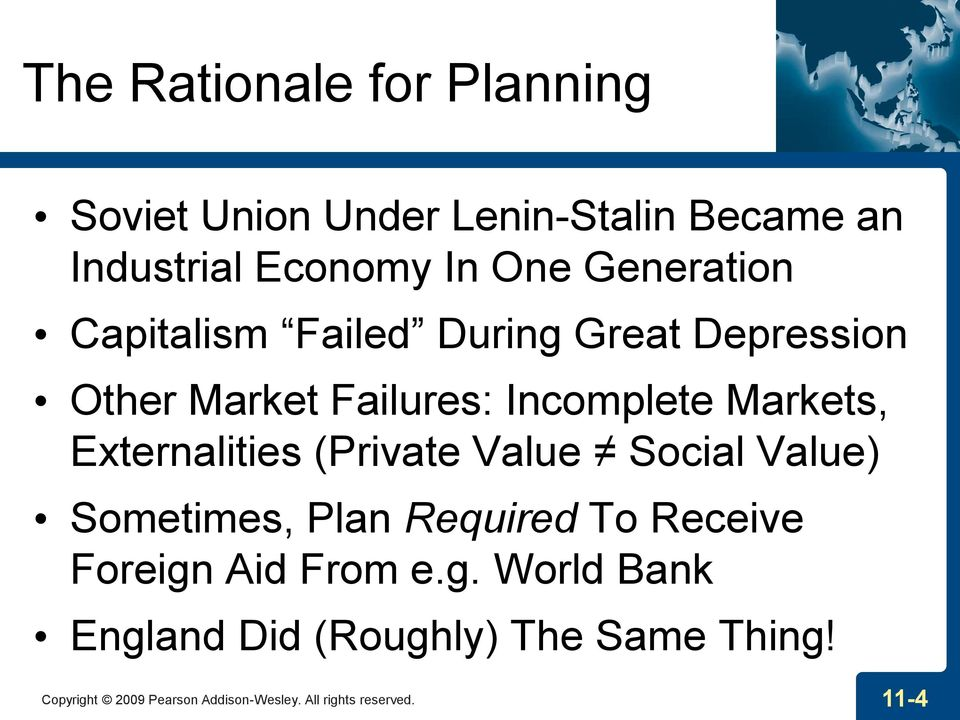 Externalities (Private Value Social Value) Sometimes, Plan Required To Receive Foreign