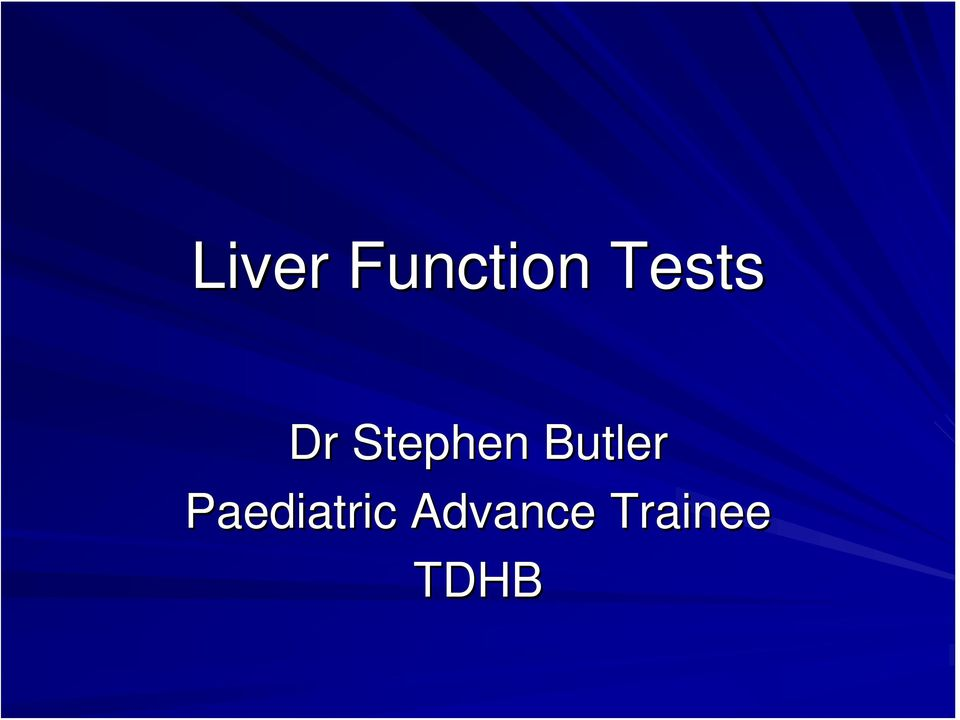 Butler Paediatric