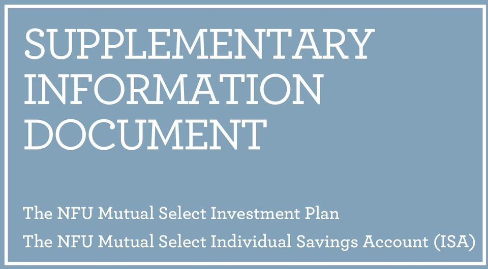 Investment Plan The NFU Mutual