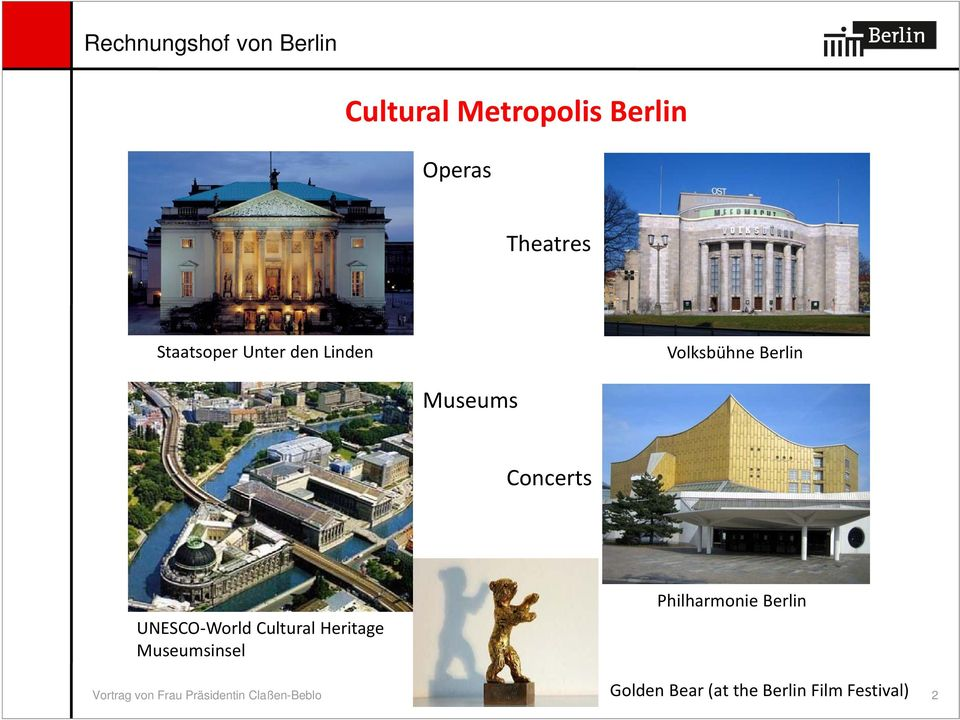 Heritage Museumsinsel Philharmonie Berlin Golden Bear (at the