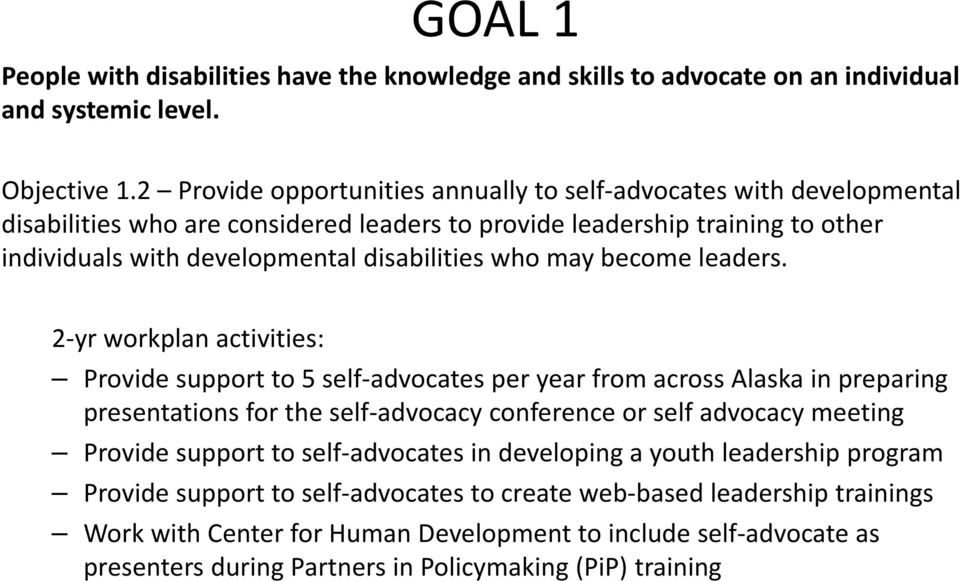 disabilities who may become leaders.