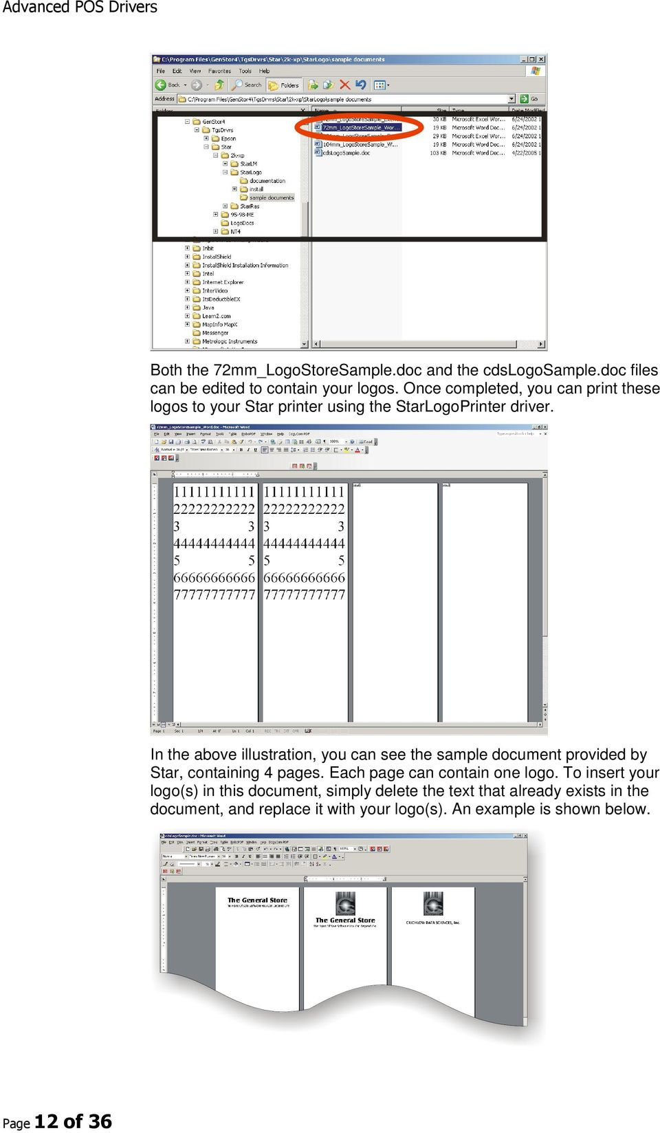 In the above illustration, you can see the sample document provided by Star, containing 4 pages.