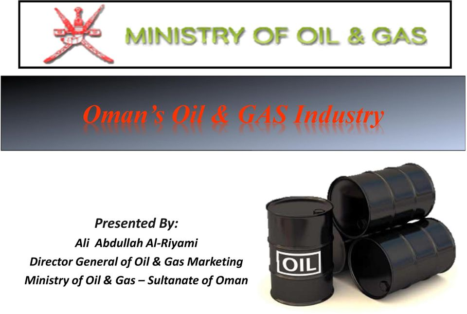 General of Oil & Gas Marketing
