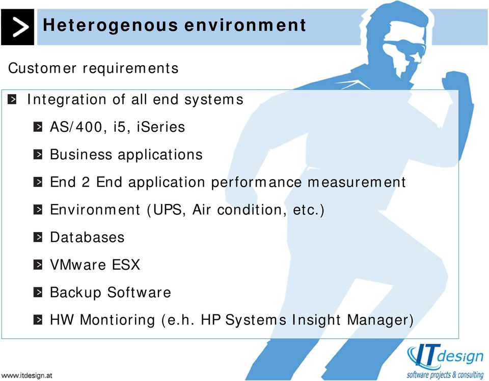 performance measurement Environment (UPS, Air condition, etc.