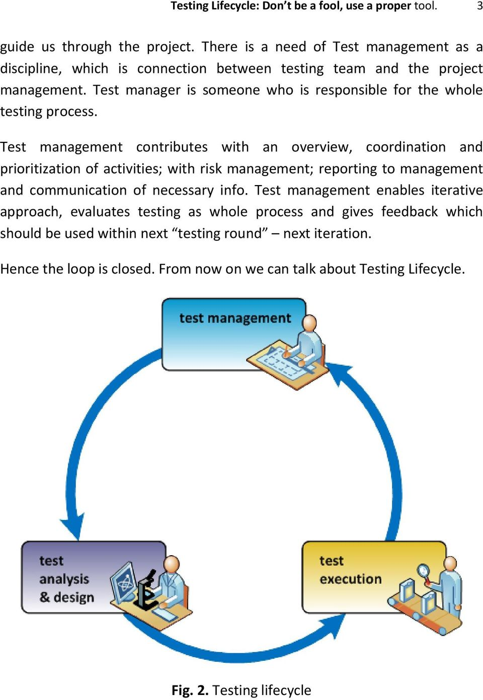 Testing Lifecycle: Don t be a fool, use a proper tool  - PDF