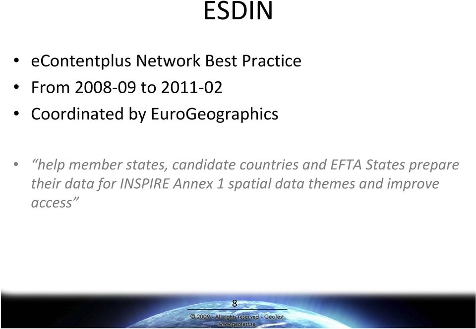 states, candidate countries and EFTA States prepare their